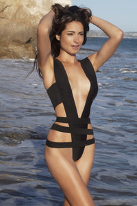 Y Style. Bandage V-shape swimsuit suit, one piece - LILYSH