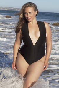 V+ Style. Plus size Bandage swimsuit suit, one piece - LILYSH