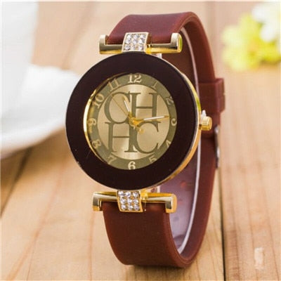 Women Crystal Silicone Watches