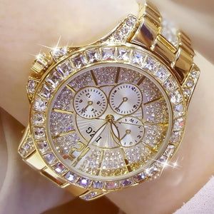 Ladies Casual Women's Bracelet Crystal Watches