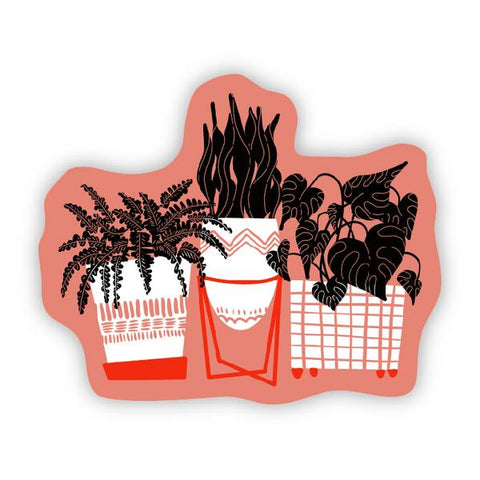 NEW! Potted Plants Sticker - free shipping