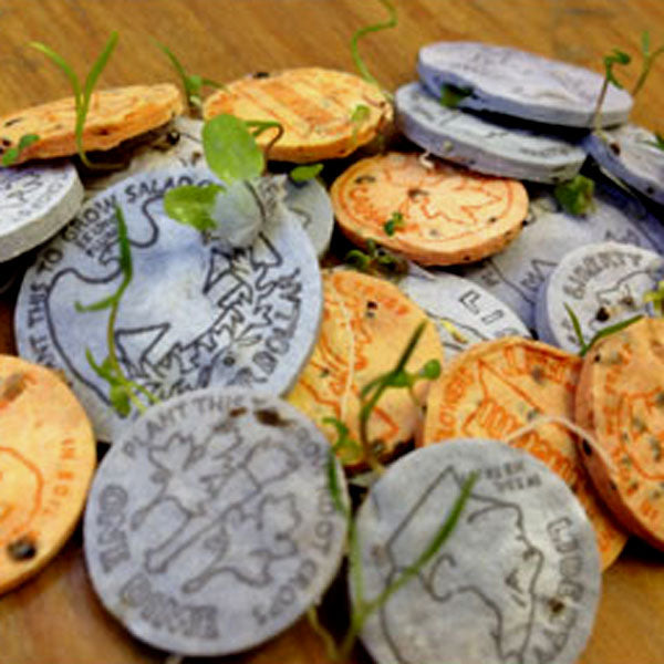 letterpress seed coins