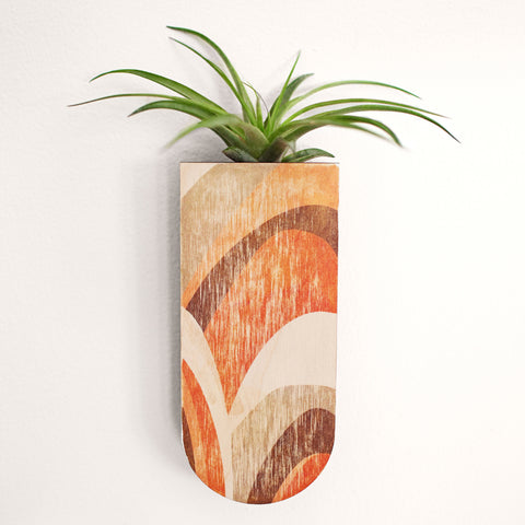 Abstract Skinny Pocket Wall Planter Vase