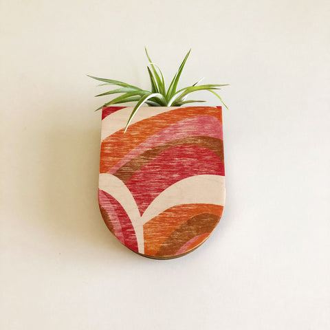 Abstract Pocket Wall Planter Vase