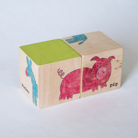 Puzzle Blocks - Farm Animals