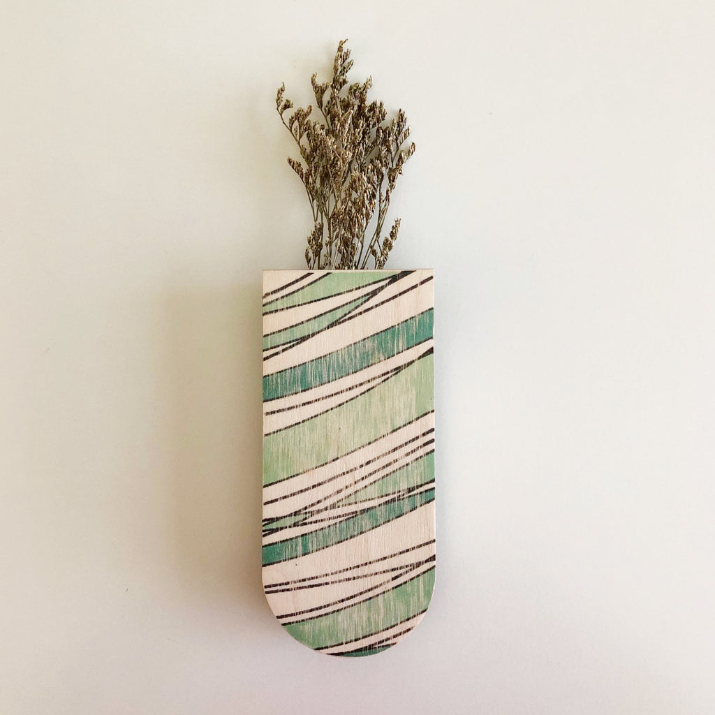 Riptide Skinny Pocket Wall Planter Vase