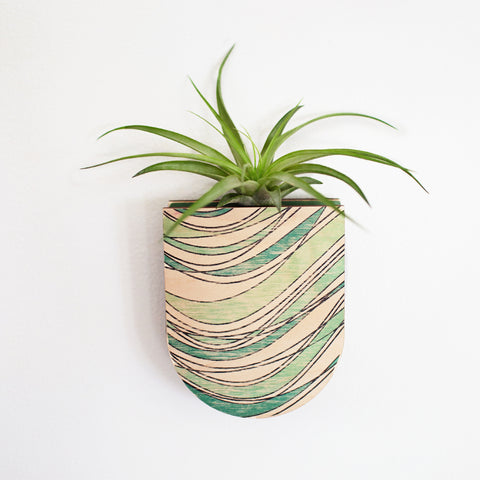 Riptide Pocket Wall Planter Vase