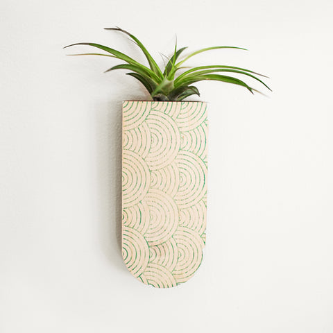 Mod Curves Skinny Pocket Wall Planter Vase