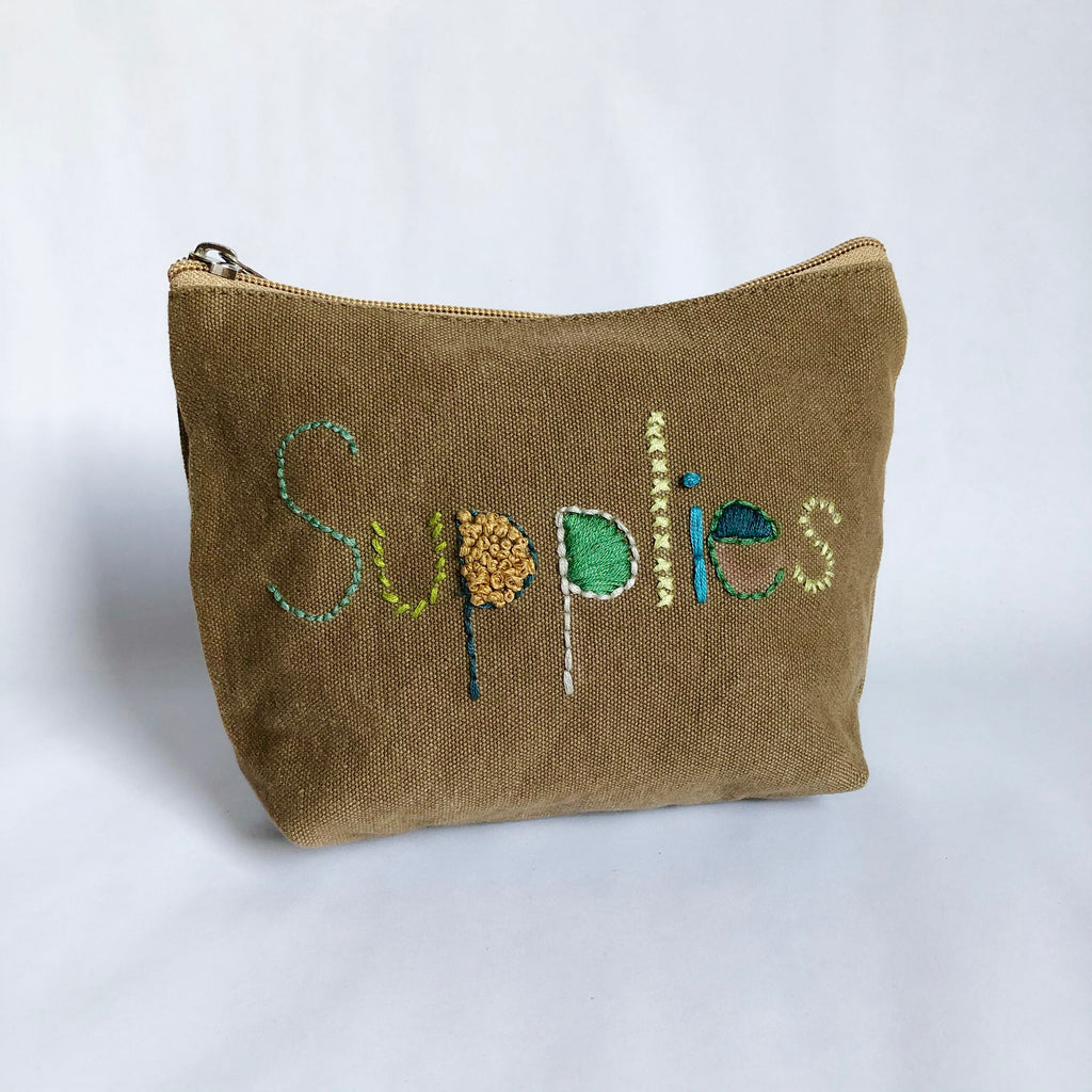NEW! Embroidered Pouch DIY Kit - free shipping