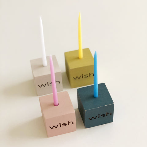 Modern Birthday Candle Holder - wish