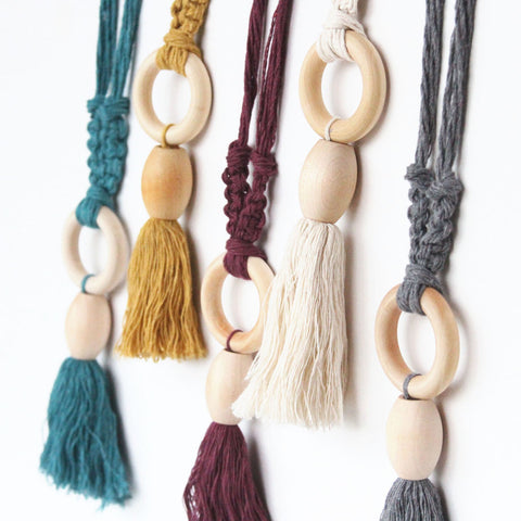 Wood + Fiber Necklaces