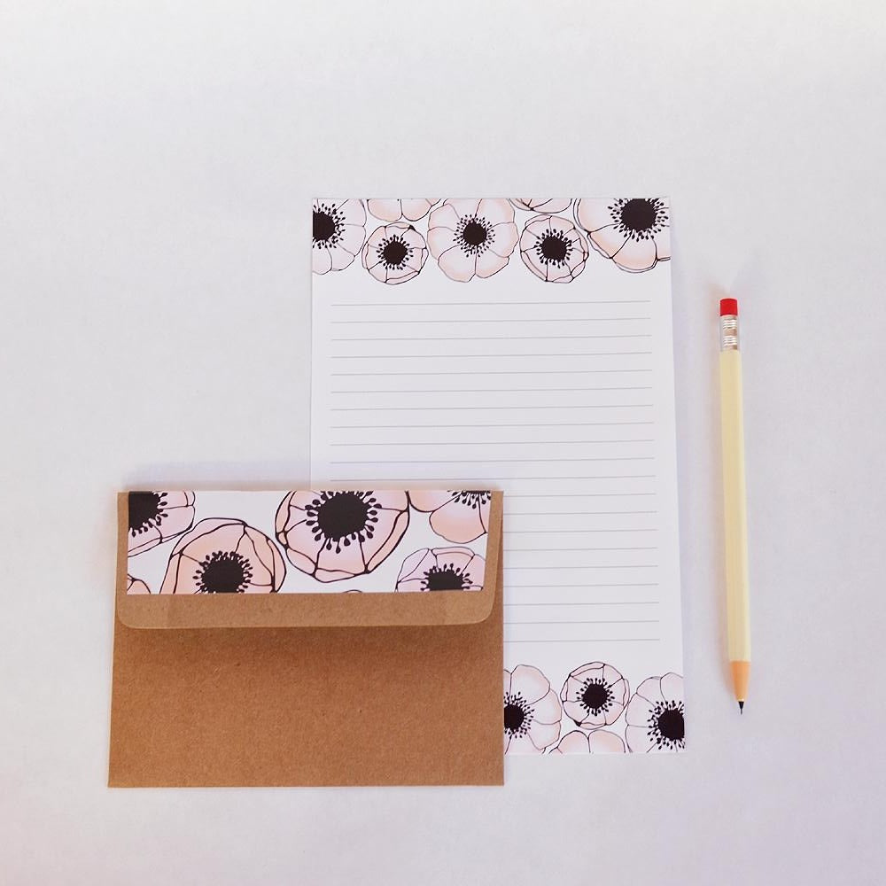 NEW! Peony Letter Writing Set