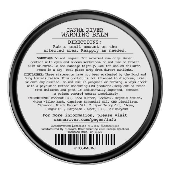 Broad Spectrum Warming Therapy CBD Balm