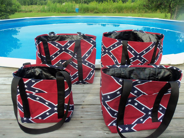 Overnight Bag - Rebel Flag: Stars and Bars