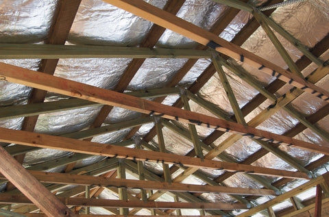 reflective insulation and trusses
