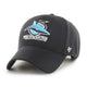 Load image into Gallery viewer, Cronulla-Sutherland Sharks Black '47 MVP Snapback with club logo on front peak