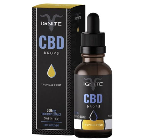 Ignite CBD 500mg CBD Flavoured Oil 30ml - RECHARGE Tropical Fruit