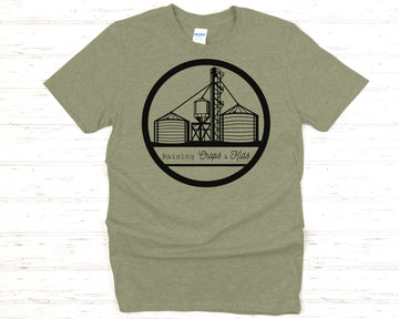 Raising Crops & Kids Unisex Fit Tee - Military Green