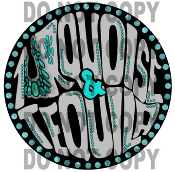 Ready to Press Sublimation Transfer Black Turquoise & Tequila