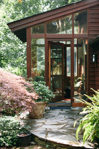 The entrance to Liz's home, which is where her Charlottesville Virginia studio is located.