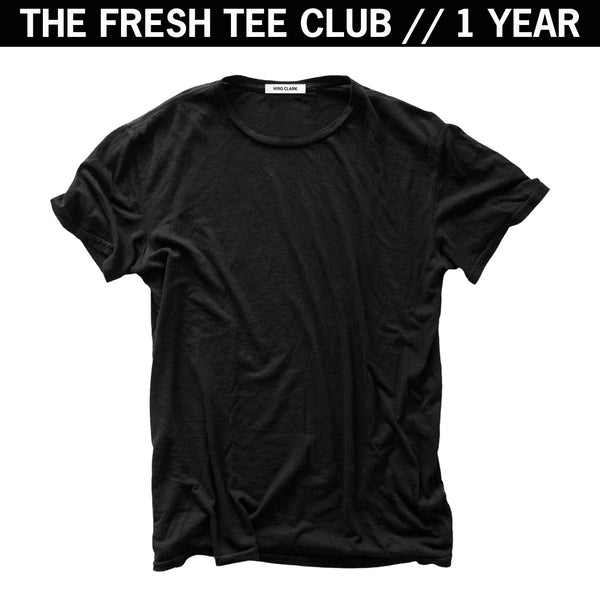 1 FRESH TEE EVERY MONTH FOR A YEAR // BLACK