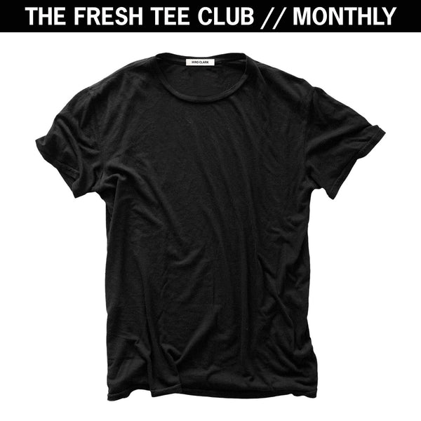 1 FRESH TEE EVERY MONTH // BLACK