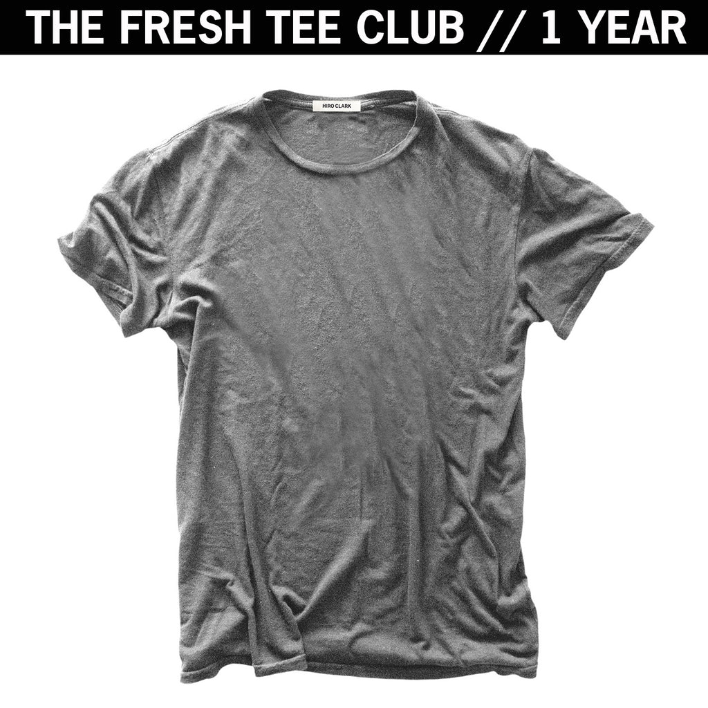 1 FRESH TEE EVERY MONTH FOR A YEAR // GREY