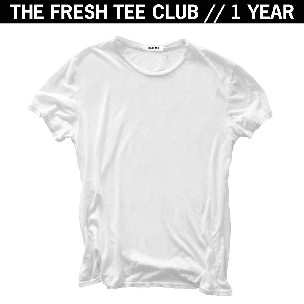 1 FRESH TEE EVERY MONTH FOR A YEAR // WHITE