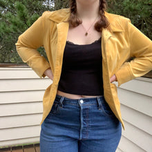 Load image into Gallery viewer, Yellow Corduroy Jacket