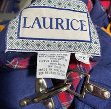 Load image into Gallery viewer, Vintage Laurice Colorblock Jacket With Flannel Inside