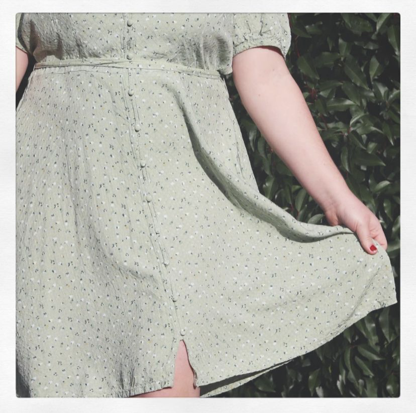 Pale Green Cottage Dress