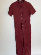 Load image into Gallery viewer, Burgundy Utility Jumpsuit