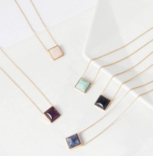 Load image into Gallery viewer, Square Quartz Necklace
