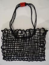 Tote Bag - Jet Black String Bag