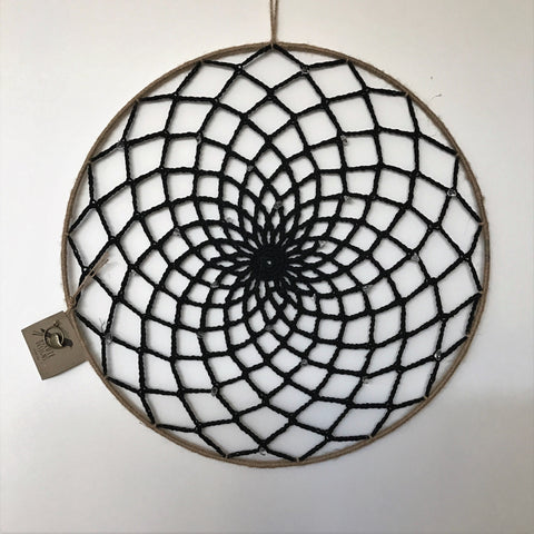 Dreamcatchers/Wall Hangings - Twine/Black with Diamantes