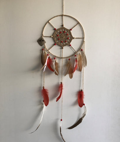 Dreamcatchers/Wall Hangings - Twine with Earthy Feathers