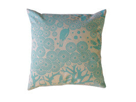 Bright Birdie Cushion Square