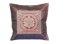Load image into Gallery viewer, BROCADE SILK DECORATIVE THROW PILLOW CASE:
