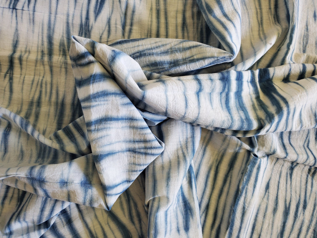 Indigo  Ridge Cotton Fabric