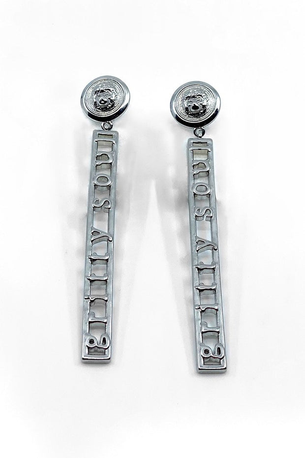 Dip-Lo Gritty Silver Earrings - Gritty Soul