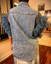 Do Me Baby Denim Top - Gritty Soul