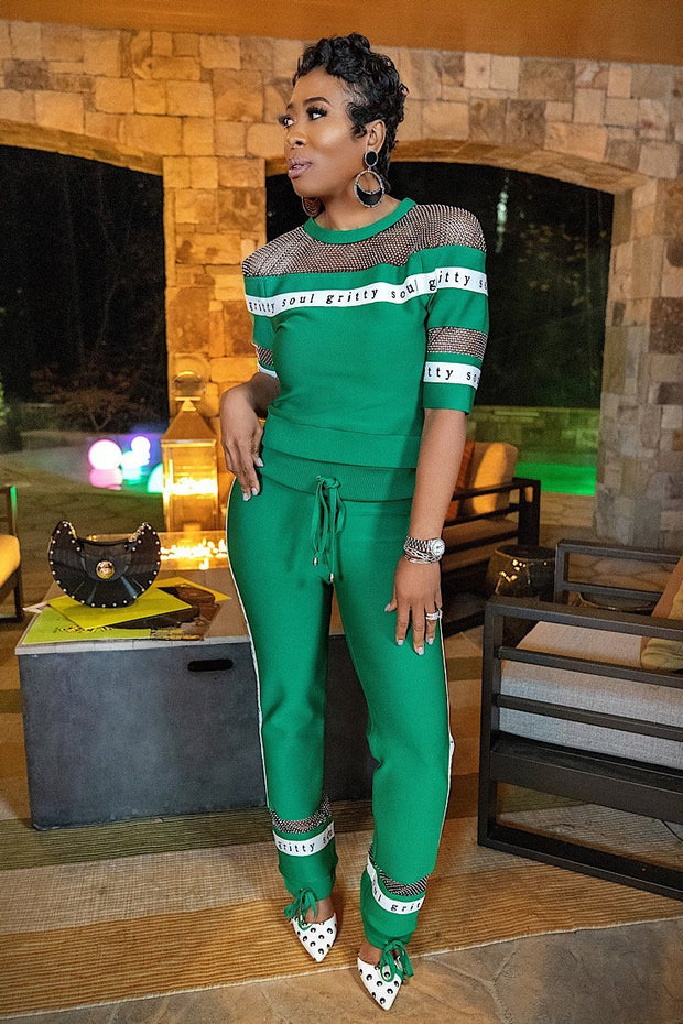 Emerald City Glammed-Out Tracksuit - Gritty Soul