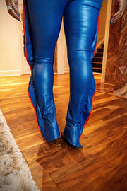Leather Rebel Pant - Royal Blue - Gritty Soul