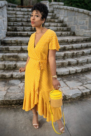 Lemon Drop Polka Dot Dress - Gritty Soul Apparel
