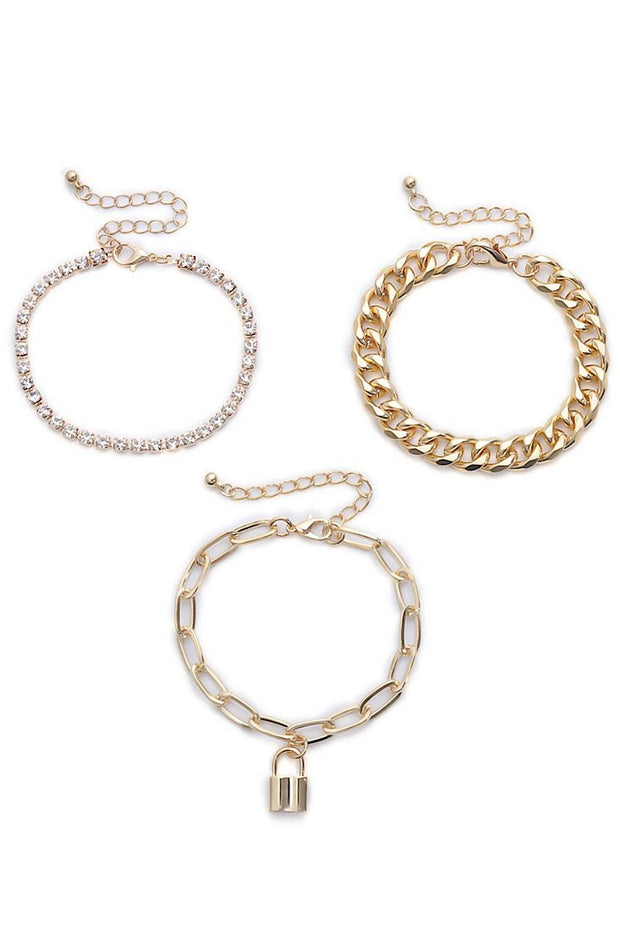 Lock It Down Lena Bracelet Set - Gritty Soul
