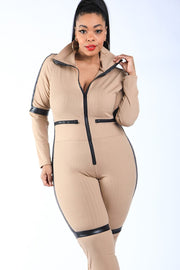 Molly Matrix Jumpsuit - Khaki - Gritty Soul