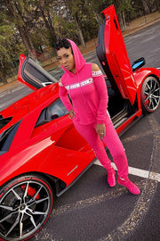 Pretty in Pink Open Shoulder Tracksuit - Gritty Soul