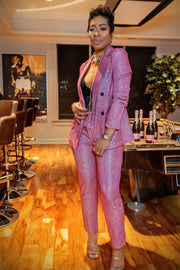 Razamataz Pink Pant Suit - Gritty Soul Apparel