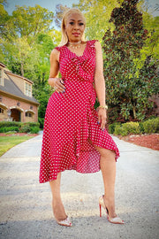 Red Hot Polka Dot Dress - Gritty Soul