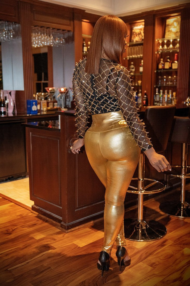 Solid Gold Soul Leggings - Gritty Soul Apparel